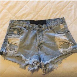 One teaspoon distressed jean shorts